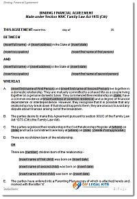 Cohabitation financial agreements de facto law sample agreement cohabitation solutioingenieria Gallery